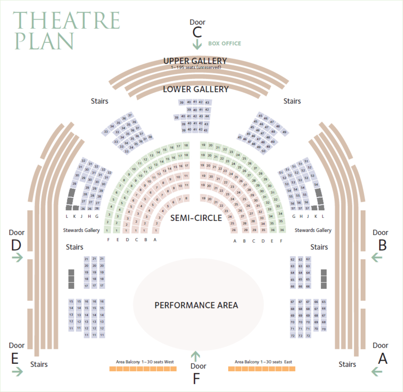 Image of the Sheldonian Theatre seating plan